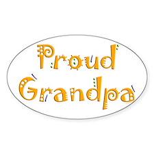Proud Grandpa Oval Decal