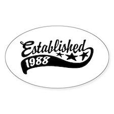 Established 1988 Decal