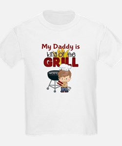 My Daddy is King of the Grill Kids T-Shirt