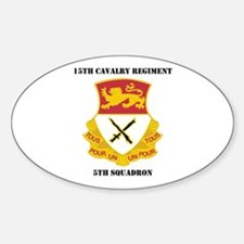 DUI - 5th Squadron - 15th Cav Regiment with Text S