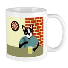 Boston Terrier Dartboard Beer Coffee Mug