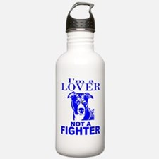 PIT BULL LOVER NOT A FIGHTER Water Bottle