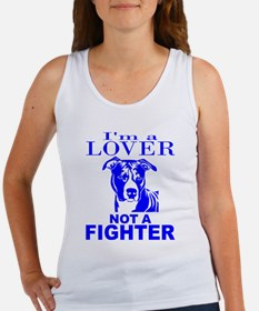 PIT BULL LOVER NOT A FIGHTER Women's Tank Top