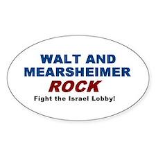 Walt Mearsheimer Oval Decal