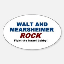 Walt Mearsheimer Oval Decal