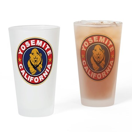 Yosemite Red Circle Drinking Glass