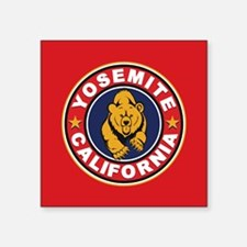 "Yosemite Red Circle Square Sticker 3"" x 3"""