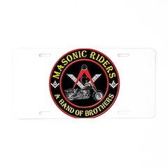 Masonic Bikers Aluminum License Plate