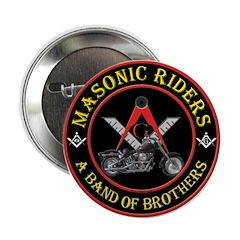 """Masonic Bikers 2.25"""" Button"""