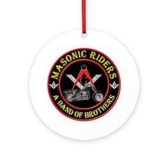Masonic Bikers Ornament (Round)