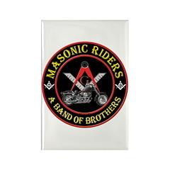 Masonic Bikers Rectangle Magnet (10 pack)