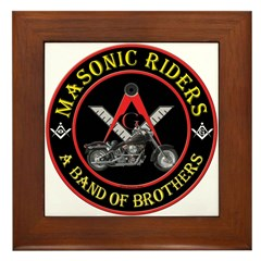 Masonic Bikers Framed Tile