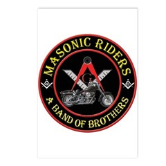 Masonic Bikers Postcards (Package of 8)