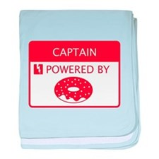 Captain Powered by Doughnuts baby blanket
