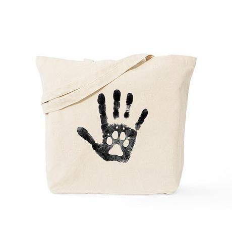 Lobo Paw Print Tote Bag