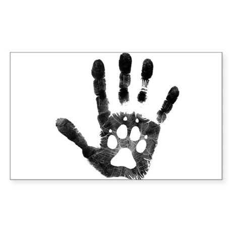 Lobo Paw Print Sticker (Rectangle)