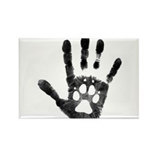 Lobo Paw Print Rectangle Magnet