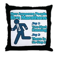Marathons Throw Pillow