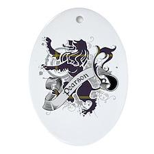 Pearson Tartan Lion Ornament (Oval)