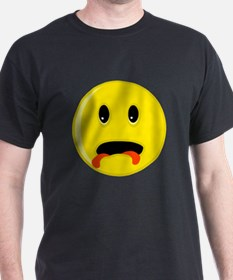 Smiley Face Two Tongues T-Shirt