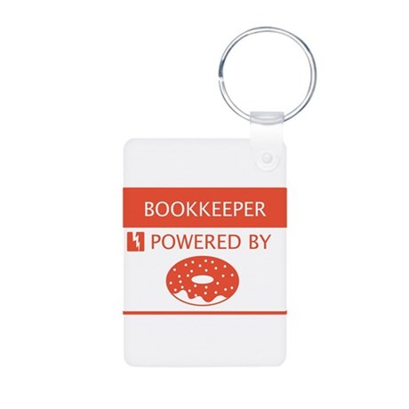 Bookkeeper Powered by Doughnuts Aluminum Photo Key