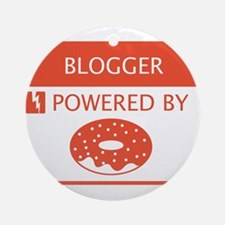 Blogger Powered by Doughnuts Ornament (Round)