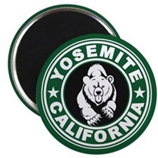 Yosemite Green Circle Magnet