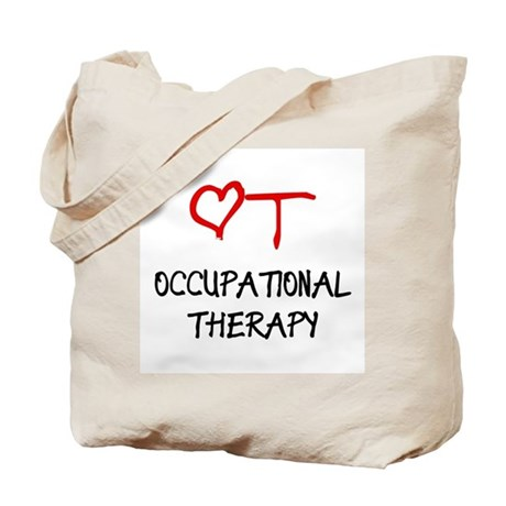 Occupational Therapy Heart Tote Bag
