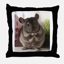 lovely chinchilla Throw Pillow