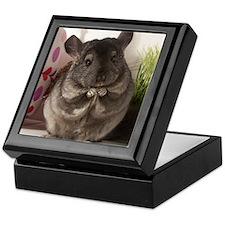 lovely chinchilla Keepsake Box
