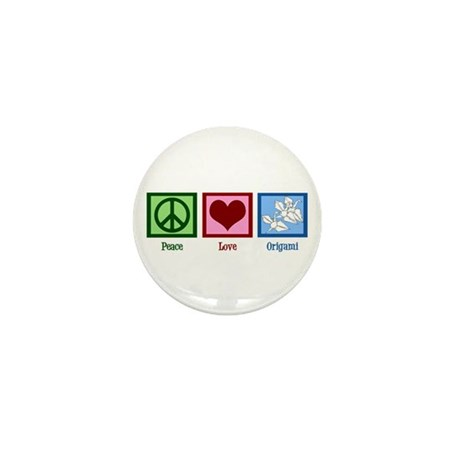 Peace Love Origami Mini Button