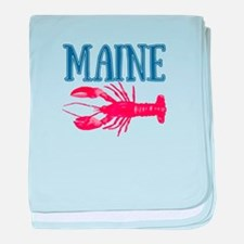 Maine Lobster baby blanket