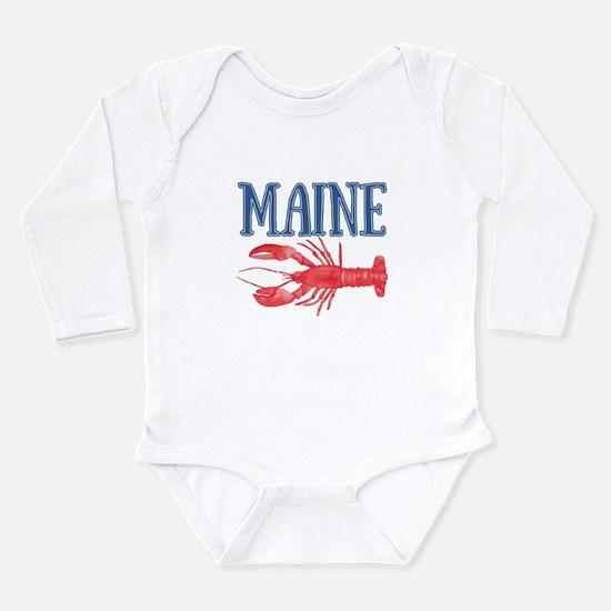 Maine Lobster Long Sleeve Infant Bodysuit