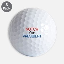 Minecraft Notch for President Golf Ball