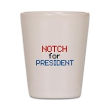 Minecraft Notch for President Shot Glass
