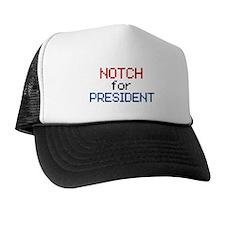 Minecraft Notch for President Trucker Hat