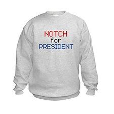 Minecraft Notch for President Sweatshirt