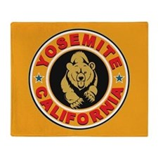 Yosemite Gold Circle Throw Blanket