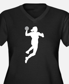 female handball player Women's Plus Size V-Neck Da