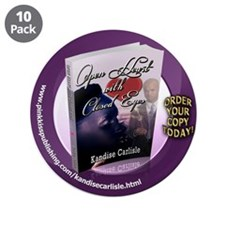 """Open Heart With Closed Eyes 1 3.5"""" Button (10"""