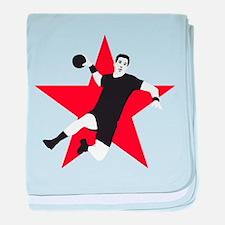 handball player star baby blanket