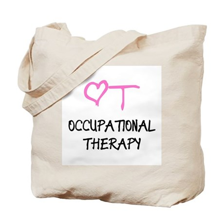 OT Pink Heart Tote Bag