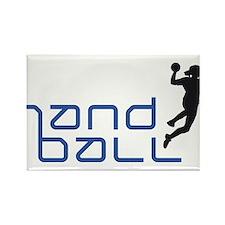 female handball player Rectangle Magnet