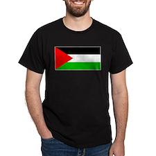 Palestinian Blank Flag Black T-Shirt