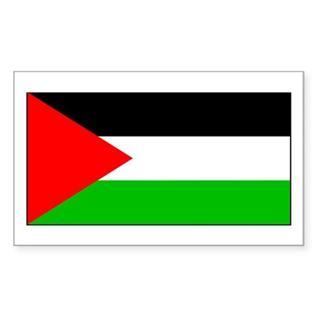 Palestinian Blank Flag Rectangle Sticker