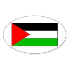 Palestinian Blank Flag Oval Decal