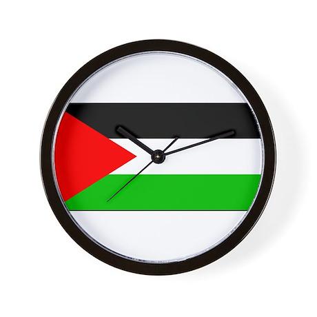 Palestinian Blank Flag Wall Clock