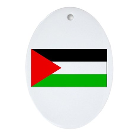 Palestinian Blank Flag Oval Ornament