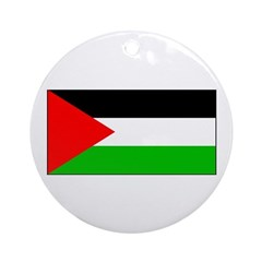 Palestinian Blank Flag Christmas Ornament