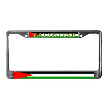 Palestinian Blank Flag License Plate Frame